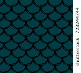 fish scale seamless pattern.... | Shutterstock .eps vector #723244744