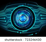 binary circuit future... | Shutterstock .eps vector #723246430