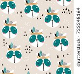 seamless pattern with cute... | Shutterstock .eps vector #723248164