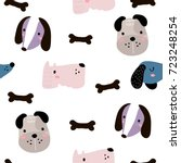 seamless childish pattern with...   Shutterstock .eps vector #723248254