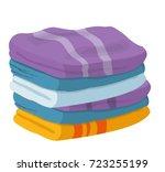 linens vector  laundry  | Shutterstock .eps vector #723255199