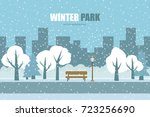 Vector Background. Winter Park
