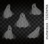 halloween. ghosts on... | Shutterstock .eps vector #723256966