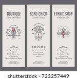 set of vintage card templates... | Shutterstock .eps vector #723257449