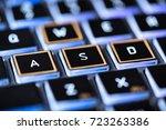 a computer keyboard   Shutterstock . vector #723263386