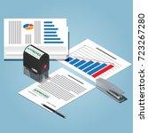 bureaucracy concept. isometric... | Shutterstock .eps vector #723267280