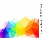 colorful polygonal mosaic... | Shutterstock .eps vector #723267769