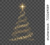 christmas tree on transparent... | Shutterstock .eps vector #723269089
