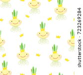a seamless pattern with cute...