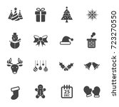 christmas party icon vector set ... | Shutterstock .eps vector #723270550
