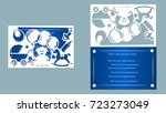 baby bottle  vector  card ... | Shutterstock .eps vector #723273049