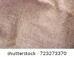 wrinkled hessian sack cloth or... | Shutterstock . vector #723273370