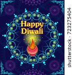 happy diwali light festival of... | Shutterstock .eps vector #723275404