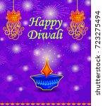 happy diwali light festival of... | Shutterstock .eps vector #723275494