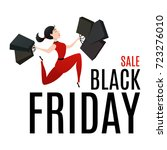 black friday sale poster with... | Shutterstock .eps vector #723276010
