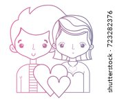 line beauty couple together... | Shutterstock .eps vector #723282376