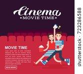 cinema poster or movie banner... | Shutterstock .eps vector #723286588