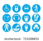 signs with protective equipment | Shutterstock .eps vector #723288853