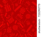 christmas vector seamless... | Shutterstock .eps vector #723290773