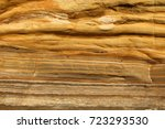 layers of sedimentary rock on a ...