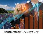 engineers with solar energy...   Shutterstock . vector #723295279
