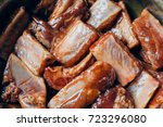 raw pork ribs with fermented...   Shutterstock . vector #723296080