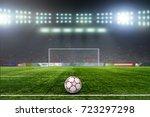 on the stadium. abstract... | Shutterstock . vector #723297298