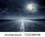 night road against the... | Shutterstock . vector #723298948
