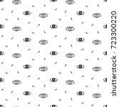 hand drawn seamless pattern... | Shutterstock .eps vector #723300220