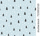 new year seamless pattern.... | Shutterstock .eps vector #723301510