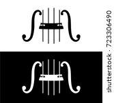 string music instrument black... | Shutterstock .eps vector #723306490