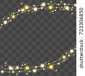 christmas lights isolated on... | Shutterstock .eps vector #723306850