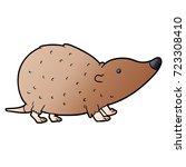 cartoon shrew | Shutterstock .eps vector #723308410