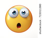 surprised emoji isolated on... | Shutterstock . vector #723311380