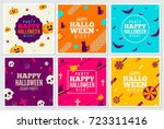 halloween covers vector flat... | Shutterstock .eps vector #723311416