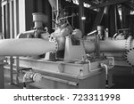 the centrifugal pump install on ... | Shutterstock . vector #723311998