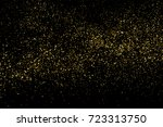 gold glitter texture isolated... | Shutterstock .eps vector #723313750