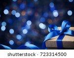 christmas gift box or present... | Shutterstock . vector #723314500