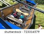 rowing boat details | Shutterstock . vector #723316579