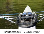 rowing boat on the water | Shutterstock . vector #723316900