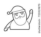 christmas happy santa claus... | Shutterstock .eps vector #723319870