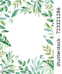 watercolor frame border.texture ... | Shutterstock . vector #723321286