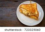 grilled cheese sandwich | Shutterstock . vector #723325060