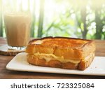grilled cheese sandwich | Shutterstock . vector #723325084