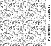 scetched doodle black and white ... | Shutterstock .eps vector #723328858