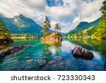 magnificent summer scene of... | Shutterstock . vector #723330343