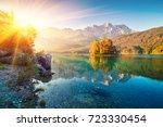 picturesque summer view of... | Shutterstock . vector #723330454