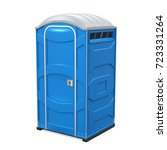 portable toilet isolated. 3d... | Shutterstock . vector #723331264