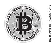 Crypto Currency Black Coin Wit...