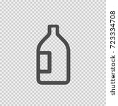 bottle vector icon eps 10.... | Shutterstock .eps vector #723334708